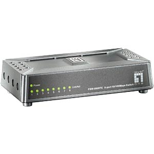 LevelOne 8-port Mini Fast Ethernet Switch LEVELONE FSW-0808TX