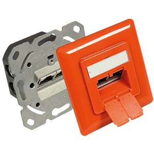 RJ45 socket, CAT.6a, UP, pure orange GOOD CONNECTIONS GC-N0051O