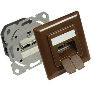 RJ45 socket, CAT.6a, UP, nut brown GOOD CONNECTIONS GC-N0051BR