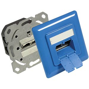 RJ45 socket, CAT.6a, UP, azure GOOD CONNECTIONS GC-N0051B