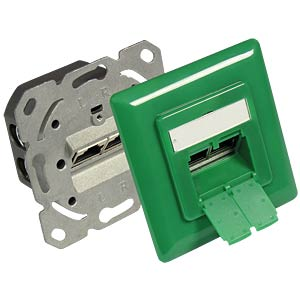 RJ45 socket, CAT.6, UP, signalgreen GOOD CONNECTIONS GC-N0052G