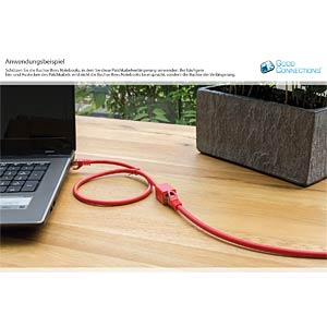 Patch cable extension, cat.6, red, 10.0 m GOOD CONNECTIONS 8063VR-100R