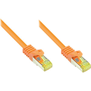 Patchkabel - Rohkabel Cat.7, orange, 0,15m GOOD CONNECTIONS 8070R-002O