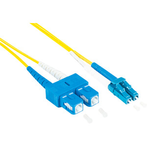 Patchkabel glasvezel duplex OS2 9/125 µ LC/SC, 7,5 m, geel GOOD CONNECTIONS LW-9075LS