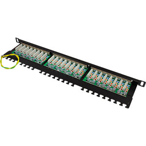 """Patchpanel, 19"""", 24-Port, Cat.6, 0,5 HE GOOD CONNECTIONS GC-N0016"""