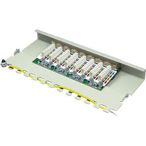 Patchpanel, 8-Port, Cat.6, 0,5 HE GOOD CONNECTIONS GC-N0079