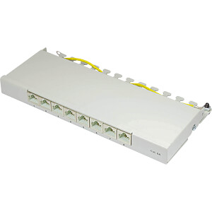 Patchpanel, 8-Port, Cat.6a, 0,5 HE GOOD CONNECTIONS GC-N0081