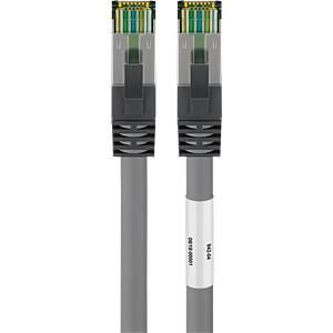 Patchkabel Cat. 8.1 onbewerkte kabel S/FTP, 25m, grijs GOOBAY 55144