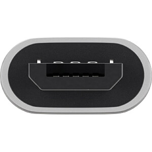 USB 2.0 Hi-Speed Adapter Typ-C auf Typ micro-B, silber GOOBAY 55552
