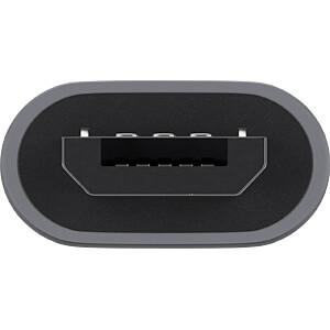 USB 2.0 Hi-Speed Adapter Typ-C auf Typ micro-B, grau GOOBAY 55553