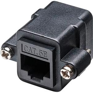RJ45 Modularkupplung/Verbinder mit Montageflansch, CAT 5e GOOBAY 72361