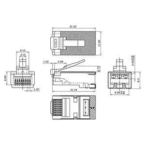 RJ45 Stecker, CAT 6A STP geschirmt GOOBAY 72502