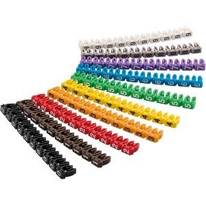 Kabelmarker-Clips Ziffern 0-9, für bis zu 4 mm GOOBAY 72514