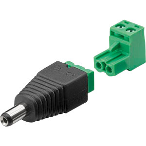 Terminal Block 2-pin > DC-Stecker (5,50 x 2,10 mm) GOOBAY 76744