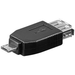 USB 2.0 Buchse auf USB 2.0 Micro A Stecker GOOBAY 95190