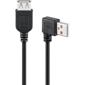 GOOBAY 95701 - USB 2.0 Hi-Speed Verlängerungskabel 90° 0,15 m schwarz