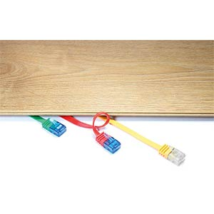 Cat.6a Flachkabel orange  1 m GOOBAY 96310