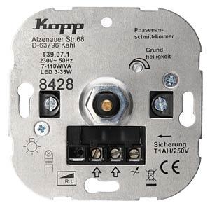 LED Dimmer UP, 7-110W Glühl., 3-35W LED KOPP 842800008