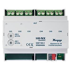 Schaltaktor 6-fach 16A C-Last KOPP 970204006