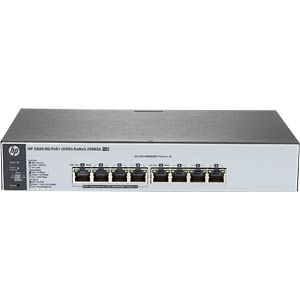 HP 1820-8G Switch - 8x 10/100/1000 MBit/s-PoE HEWLETT PACKARD ENTERPRISE J9982A