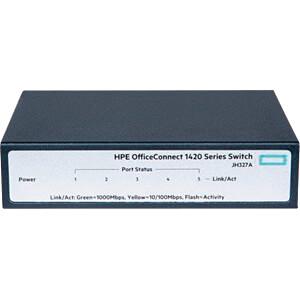 Switch, 5-Port, Gigabit Ethernet HEWLETT PACKARD ENTERPRISE JH327A