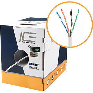 Cat.5e Verlegekabel, UTP, 24AWG, 305m ICE  CABLE ICE-CAT5E-BLACK