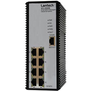 Switch 8x 10/100/1000TX, SNMP LANTECH IES-2008B