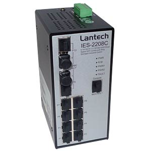 Switch, 8-Port, Gigabit Ethernet, SFP LANTECH IES-2208CA