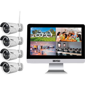 Netzwerk-Videorekorder, Set inkl. 4 Kameras INKOVIDEO INKO-WM-134