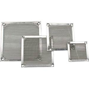 Fan grill with aluminium filter, 80 x 80 mm INLINE 33378A