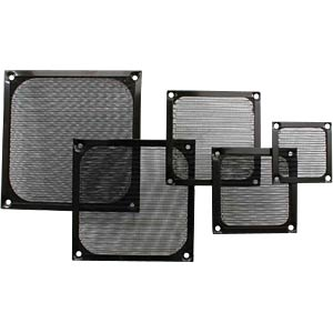 Fan grill with aluminium filter, 80 x 80 mm, black INLINE 33378S