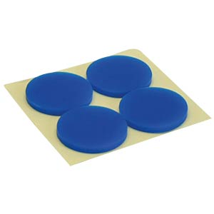 Rubber feet for PC enclosures, pack of 4, blue INLINE 59909