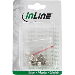Knurled screws, 12 mm, pack of 6, silver INLINE 77770A