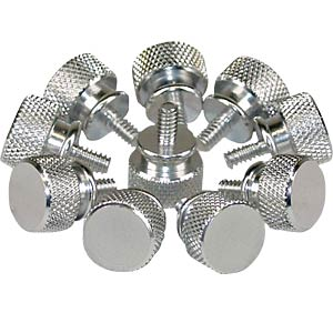 Knurled screws, 12 mm, pack of 10, silver INLINE 77770