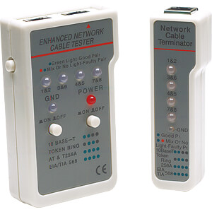 Multifunktions Kabeltester, RJ45/RJ11 INTELLINET 351898
