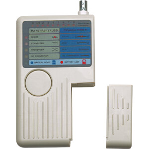 4-in-1 Kabeltester, RJ11, RJ45, USB und BNC INTELLINET 351911