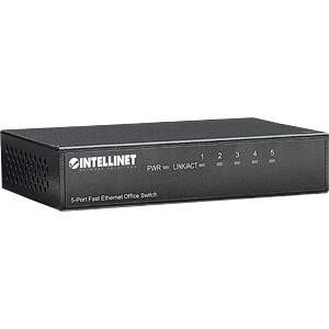 Switch, 5-Port, Fast Ethernet INTELLINET 523301