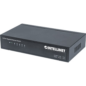 Switch, 5-Port, Gigabit Ethernet INTELLINET 530378