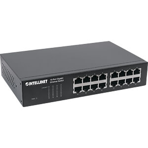 Switch, 16-Port, Gigabit Ethernet INTELLINET 561068