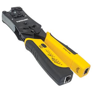Crimpwerkzeug und Kabeltester für RJ45-, RJ11-, RJ12- und RJ22 INTELLINET 780124