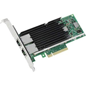 PCI-e network interface card, 2x 100/1000/10,000 Mbit/s INTEL X540T2BLK