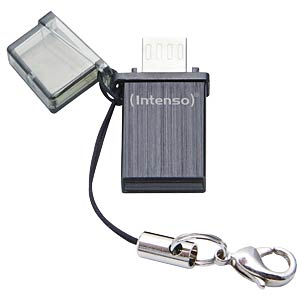 USB-Stick, USB 2.0, 16 GB, Mini Mobile Line, microUSB INTENSO 3524470