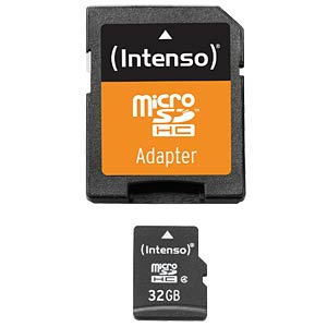 Micro-SDHC-kaart 32GB - Intenso INTENSO 3403480