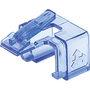 RJ45-Reparaturclips, transparent blau, 50 Stk INTELLINET 771443