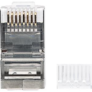 CAT6 Modularstecker, STP, 3-Punkt, 90 Stk INTELLINET 790628
