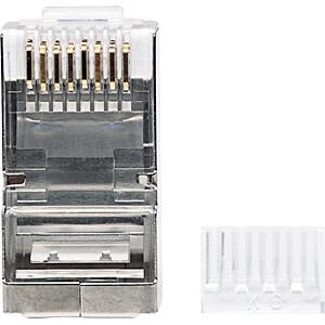CAT6 Modularstecker, STP, 2-Punkt, 90 Stk INTELLINET 790635