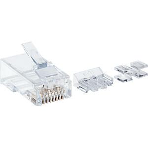CAT6A Modularstecker, UTP, 3-Punkt, 80 Stk INTELLINET 790659
