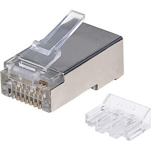 CAT6A Modularstecker, STP, 3-Punkt, 90 Stk INTELLINET 790680