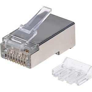CAT6A Modularstecker, STP, 2-Punkt, 90 Stk INTELLINET 790697