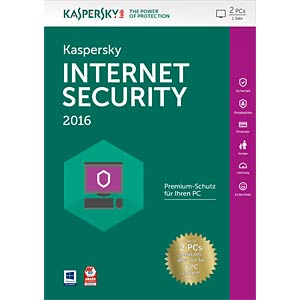 Kaspersky Internet Security 2017 2 Devices KASPERSKY KL1941GBBFS-7LTD
